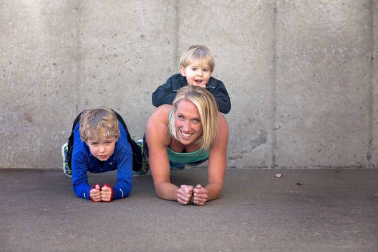 how to workout with your kids