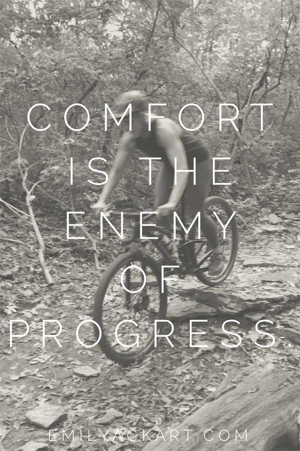 Comfort is the enemy of progress motivational fitness quote